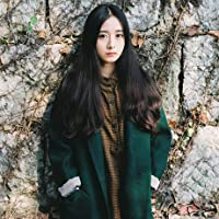 &zhou Lungo cappotto di panno di lana di lana in