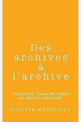 Des archives à l'archive Format Kindle