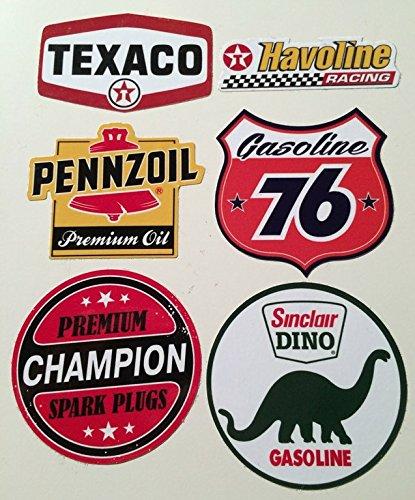 t Öl 76 Breite je ca. 6cm Rockabilly Hot Rod Shop Sticker Dino Oil Can Vintage Oldtimer ()