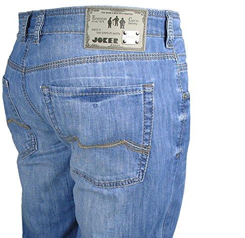 JOKER Jeans | Jayson 2445/0752 ( Slim Fit ) Man made bleach buffies Blue Bleached