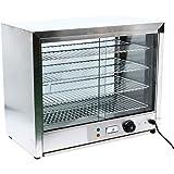 YiWon Comptoir à chaleur 1000 W - Vitrine de maintien au chaud - 4 étages - En acier inoxydable