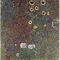 Gustav Klimt – Il Giardino Vintage Stampa Fine Art, laccato carta/carta, Up to 594mm by 841mm or 23.4