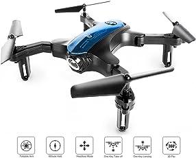 RC Mini Drone, tragbare Tasche Quadcopter für Indoor / Outdoor Fliegen mit One-Key Return / Headless Modus / Höhe halten / 3D Flips, leicht zu steuern für Anfänger