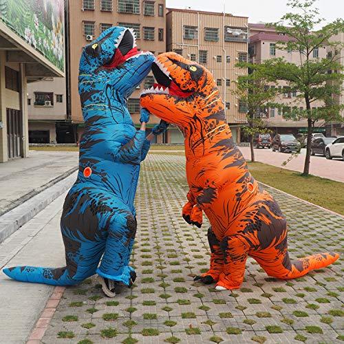 Inflatables Kostüm Halloween - QIANG Halloween Kostüm Tyrannosaurus Inflatable Dinosaur Adult Halloween Event Jährliches Leistungskostüm,Blue