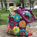 Tasche selber häkeln und stricken! Häkelset Sommertasche mit Baumwolle und Häkelanleitung - Strickset mit Anleitung und Wolle - Häkelpackung zum Tasche selbst häkeln von MyOma