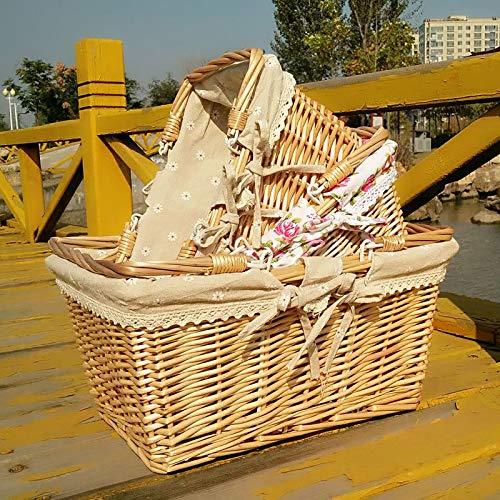 Chuan Rong Stock geflochtene Korb früchtekorb Hand Korb weiden geflochten Picknick - Korb Strick - Seite mit Korb Geschenk warenkorb (Warenkorb-geschenk-korb)
