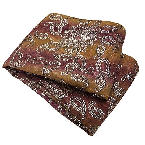 Indische Jahrgang Dupatta Lange Stola Georgette Braune Hand Bestickt Schals Hijab (Georgette Bestickte Hand)