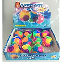 12Scatola di lampeggiante LED sfera luminosa con 6cm palla morbida Spiky palla di gomma - Gomma Bouncy Balls