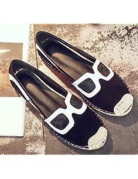 Chaussures de grand-mère Mocassins Scrub Flat tressé Hand-woven Comforty blâme décontracté de la mère