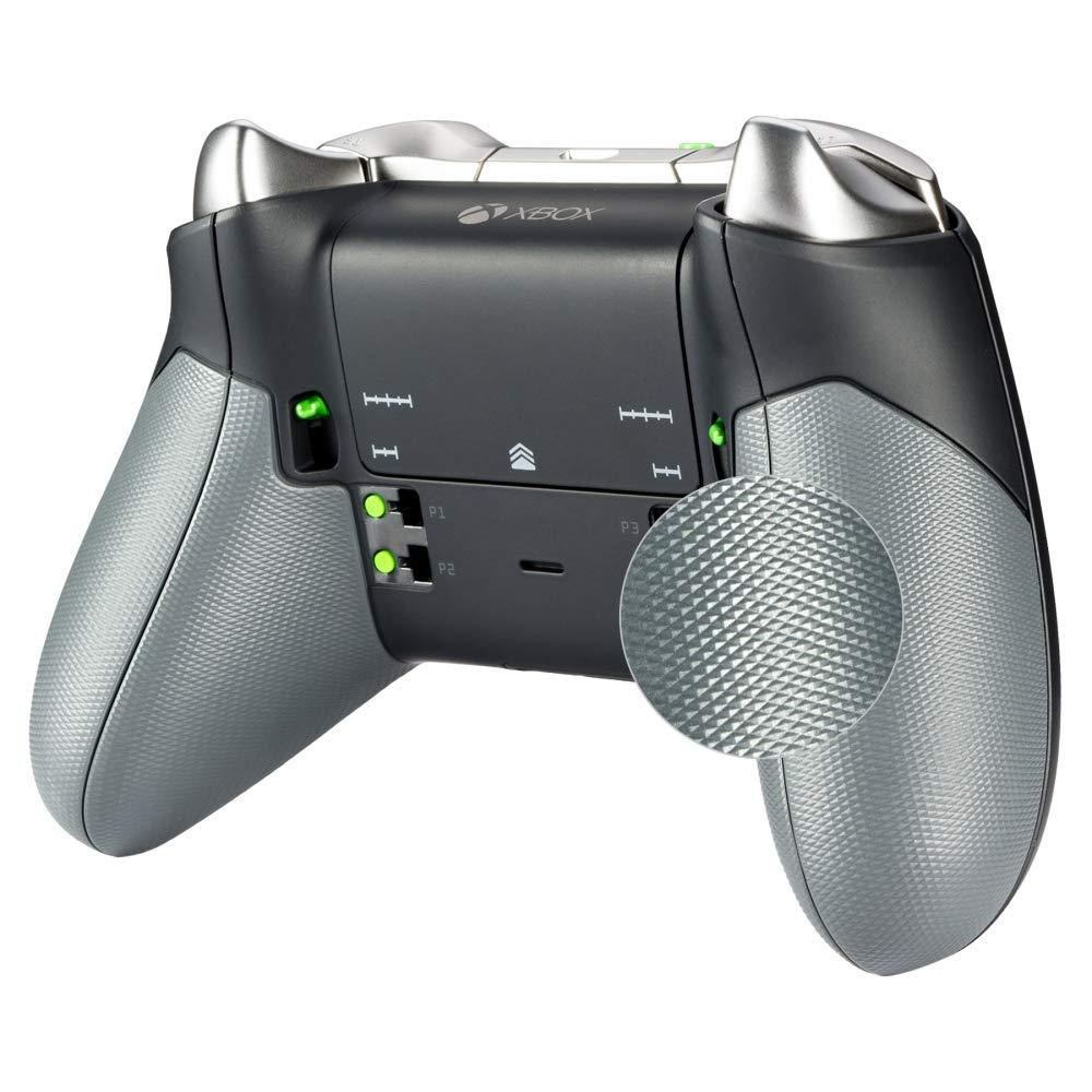 eXtremeRate Poignées Grips Coques Arrières Caoutchoutés,Gauche Droit Housse Boîtier de Remplacement Kits pour Manette Contrôleur Xbox One Elite(Modèle 1698)