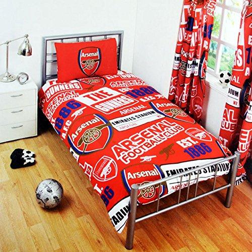 Club Licensed Arsenal Patch Bettwäsche Bettdecke (135x 200cm) (Single Kissenbezug (50x 75cm), Unisex, rot - Bettwäsche Patch