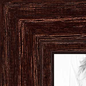 ArtToFrames 8.5x14 inch Walnut Stain on Red Oak Wood Picture Frame, WOM0066-80209-YWAL-8.5x14