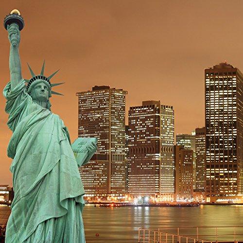 Apple iPhone 4 Housse Étui Silicone Coque Protection Horizon Statue de la liberté New York Sac Downflip noir