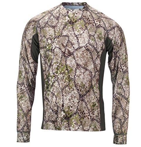 Über Die Jagd T-shirt (Badlands Herren algus Tech Long Sleeve Camouflage Jagd Shirt, Approach Camo)