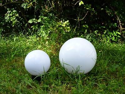 hochwertige Kugelleuchte im 2er Set (20+30cm) Marlon, Kugellampe mit Erdspieß, E27, Dekoleuchte von Bella-Vita GmbH - Lampenhans.de