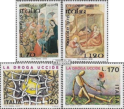 Italien 1555-1556,1560-1561 (kompl.Ausg.) postfrisch 1976 Weihnachten, Drogen (Briefmarken für