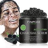 Körperpeeling, Body Scrub, Face Scrub, rockene Haut Entferner,Peeling Salz Natürliche,Bambuskohle Körper Gesicht Scrub, eklärte Haut,befreit verstopfte Poren, 250g