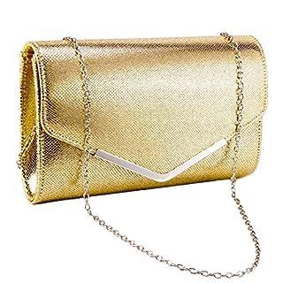 Anladia Women Ladies Clutch Bag Envelope Shoulder Bag Evening Party Bridal Wedding Handbag Purse