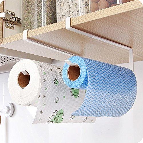 Juego de 2 soportes para rollo de papel de cocina de Teerfu, dispensador para colocar bajo el mueble