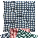 proheim Stuhlkissen Vichy5 38 x 38 cm Sitzkissen für Stühle drinnen und draußen Stuhlauflage mit...
