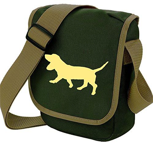 Bag Pixie - Borsa a tracolla unisex adulti Fawn Dog Olive Bag