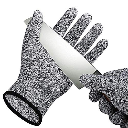 Schnittschutzhandschuhe - Schnittfeste Küchehandschuhe Handschuhe Schnittschutzklasse 5 für Küche Baustelle Gartenbau Schutzhandschuhe Einsatzhandschuhe