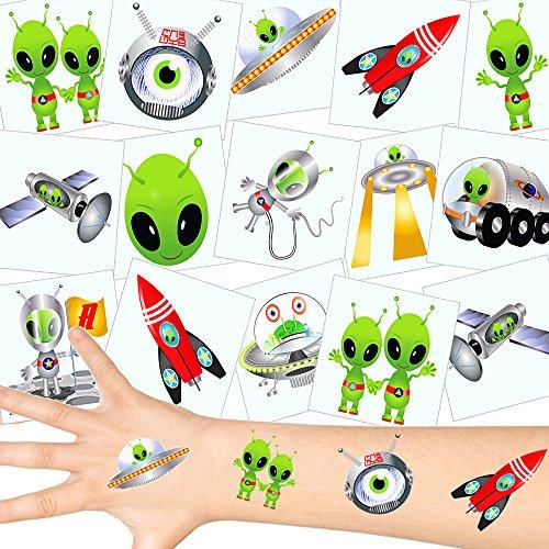 arsmännchen Tattoos Set ┃ Neu ┃ Astronauten Party ┃ Kindergeburtstag ┃ Mitgebsel ┃12 Tattoos ()