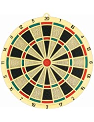 Solex Soft Dartboard 6 Darts & 6 Extra Tips, mehrfarbig, 36 x 36 x 2 cm, 43100