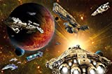 great-art Poster Galaxy Adventure - 140 x 100 cm Raumfahrt-Mission Science-Fiction Wandposter Fotoposter