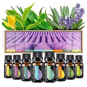 Ätherische Öle Set (8x10ml) – Essential Oil für Aromatherapie – Duftöl für Diffuser – 100% Rein Öle – Lavendel…