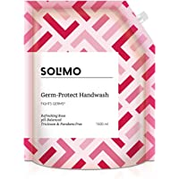 Amazon Brand - Solimo Germ-Protect Handwash Liquid, Refreshing Rose, 1500 ml