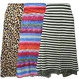Set di tre parei 100x180cm in diversi motivi 1x tigrato 1x zebrato 1x a strisce multicolore interamente in cotone Moda Accessori Abbigliamento Donna mare
