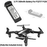MMLC 3.7V 350mAh LiPo Batterie für FQ777 FQ31 Drohne Quadcopter (Black)
