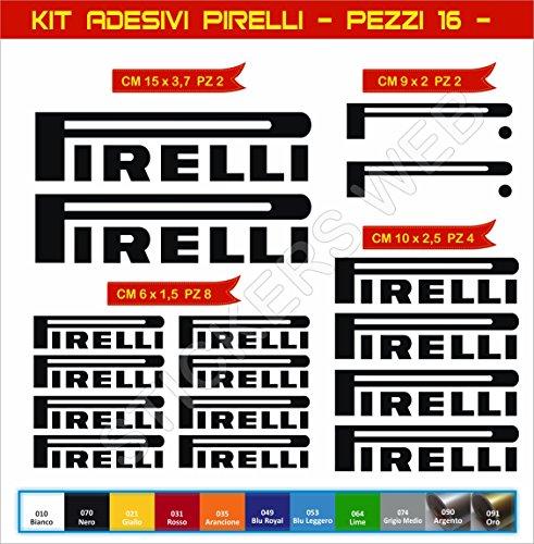 Aufkleber stickers PIRELLI moto decal bike-Motorrad- Cod. 0628 (Nero cod. 070) (Nero-aufkleber)