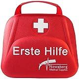 Nowaberg Medical Supplies Erste-Hilfe-Set für Sport, zu Hause, im Büro, im Wohnwagen, beim Camping, bei Ausflügen oder auf Reisen. Tasche mit 85-teiligem Inhalt für den Notfall