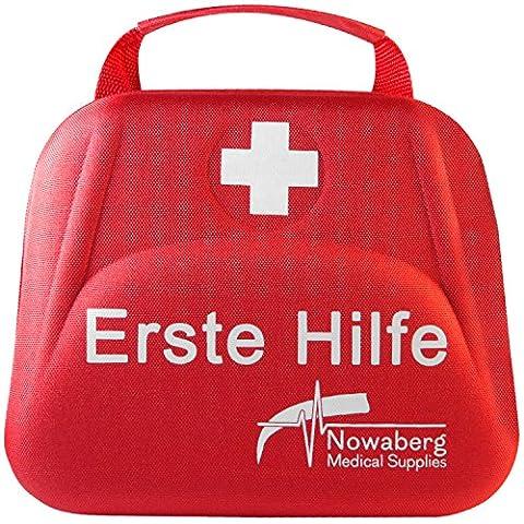 Nowaberg Medical Supplies Erste-Hilfe-Set für Sport, zu Hause, im Büro, im Wohnwagen, beim Camping, bei Ausflügen oder auf Reisen. Tasche mit 85-teiligem Inhalt für den