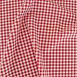 TOLKO Baumwollstoff Meterware - Leichter Klassiker in Rot/Weiß kariert zum Nähen und Dekorieren Vichy-Karo - Karogröße: 5 x 5 mm