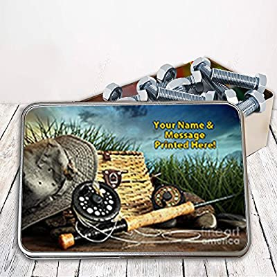 Personalised Fly Fishing Wild Lake St511 Storage Tin smoking tobacco box Money Gift from Krafty Gifts