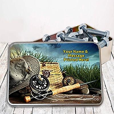 Personalised Fly Fishing Wild Lake St511 Storage Tin smoking tobacco box Money Gift from Krafty Gifts