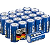 Varta Industrial C Alkaline Batteries LR14, Made in Germany - Pack of 20