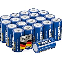 Varta Industrial Battery C Baby Alkaline Batteries LR14 - pack of 20, Made in Germany