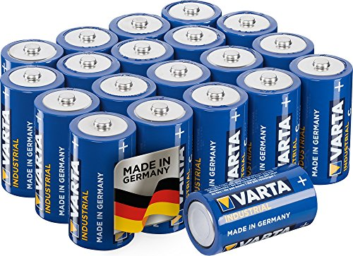 Varta Industrial Batterie C Baby Alkaline Batterien LR14-20er Pack, Made in Germany