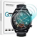 NEWZEROL [4-pack] för Huawei Watch GT/GT aktivt skärmskydd (uppgraderad storlek) 2,5 D bågkanter 9 hårdhet högdefinierad rept
