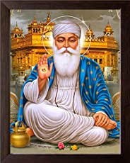Art n Store Guru Nanak Dev ji and Golden Temple HD Printed Religious & Decor Poster Painting with Frame (3