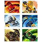 Crystal Ninjago (2017) Poster Prints-Set von 6Ninja Lego Movie Decor Art Wand Fotos 8x 10Kai Skyler Lloyd Zane Jay Cole