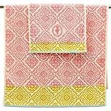 Paar Frottee Handtuch PIP Studio check-rosa