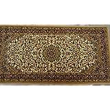 Sona-Lux Alfombra tejida clásica color beige tamaño: 80x 160cm