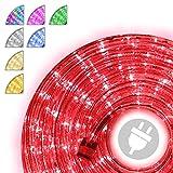 10m 240 LED Lichterschlauch Lichtschlauch rot – Innen- und Außenbereich