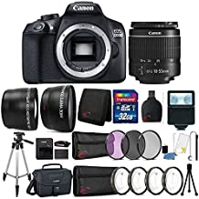 Canon EOS 1300D 18MP DSLR Camera With 18-55mm Lens, Canon 100ES Case And 32GB Ultimate Accessory Bundle