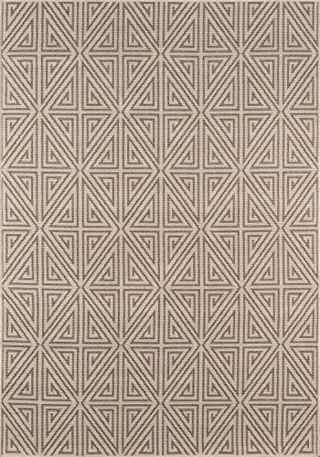momeni Teppiche baja0baj-4tau6796, Baja Kollektion modernes Indoor & Outdoor Bereich Teppich, leicht zu reinigen, UV-geschützt und farbbeständige, 6'17,8cm X 9' 15,2cm Taupe, Taupe, 2'3